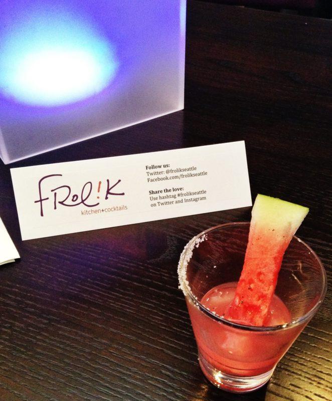 Watermelon Martini at Frolik