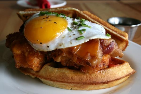 chicken-and-waffles-Red Door-Lakeland