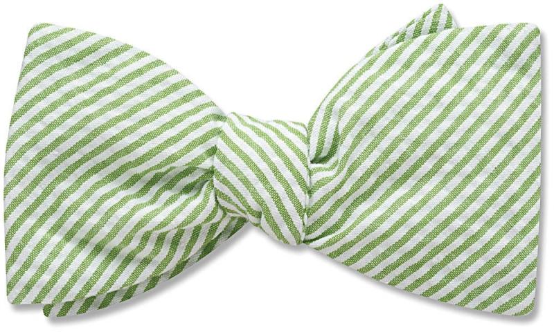 Green Seersucker-BeauTiesLTD