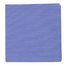Tie Bar Kingsport Stripe Pocket Square Blue