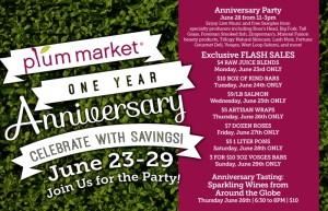 Plum Market Anniversary