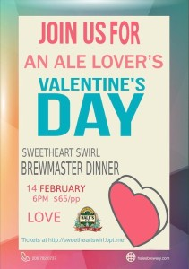 2015 Sweetheart Swirl Brewmaster Dinner at Hale's Ales Brewery & Pub