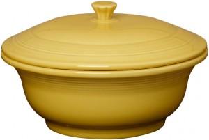 Fiestaware-sunflower-casserole-dish