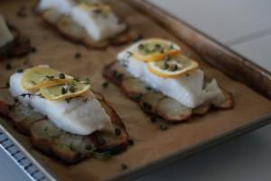 Sheet Pan Suppers: Lemon-Herb Sole on Crispy Potato Rafts